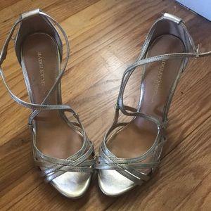 Beautiful Badgley Mischika Gold Heels